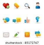 web icons   social network | Shutterstock .eps vector #85172767