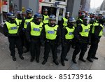 london   march 26  riot police... | Shutterstock . vector #85173916