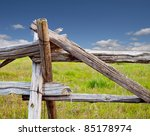 Rustic Field Fence