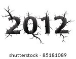 conceptual image of 2012... | Shutterstock . vector #85181089