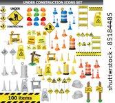 under construction sign... | Shutterstock .eps vector #85184485