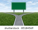 blank highway and road sign... | Shutterstock . vector #85184569