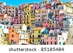 Scenic View Of Colorful Houses...