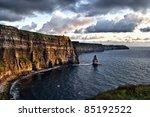 cloudy sunset at cliffs of...   Shutterstock . vector #85192522