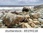 Rocky Coastline Of Atlantic...