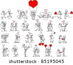set of wedding pictures | Shutterstock .eps vector #85195045