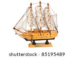 miniature wooden model of a... | Shutterstock . vector #85195489