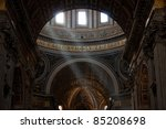 Interior Of Saint Peter's Dome...