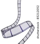 film strip  clipping path and... | Shutterstock . vector #85212052