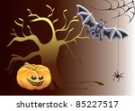 halloween background | Shutterstock .eps vector #85227517
