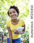 a pretty african american woman ... | Shutterstock . vector #85231816