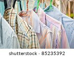 shirts washed and drying by... | Shutterstock . vector #85235392