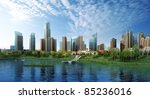 3d render of a building | Shutterstock . vector #85236016