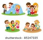 sweet family set | Shutterstock .eps vector #85247335