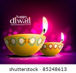 vector diwali oil lamp | Shutterstock .eps vector #85248613
