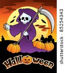 halloween scenery with sign 4   ... | Shutterstock .eps vector #85254343