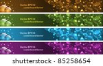 christmas banners  leaderboard... | Shutterstock .eps vector #85258654