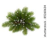 Christmas decoration isolated on white background - stock photo