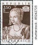 austria   circa 1971  a stamp... | Shutterstock . vector #85262725