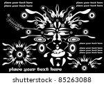 traditional vector tribal mask  ...