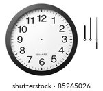 office clock with separated... | Shutterstock . vector #85265026