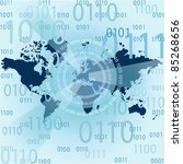 internet conception of global...   Shutterstock .eps vector #85268656