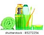 green bathroom accessories ... | Shutterstock . vector #85272256