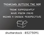 thinking outside the box | Shutterstock .eps vector #85275091
