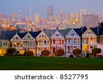 alamo square in san francisco... | Shutterstock . vector #8527795