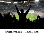 image of a full stadium with... | Shutterstock . vector #85280425