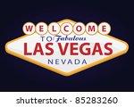 welcome to las vegas | Shutterstock .eps vector #85283260