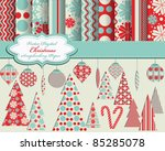 Set Of Christmas Vector Paper...