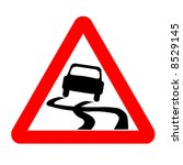 traffic sign   warning  car out ... | Shutterstock . vector #8529145