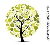 energy fruit tree for your...   Shutterstock .eps vector #85291741