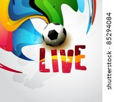 vector football on artistic... | Shutterstock .eps vector #85294084