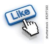 like button | Shutterstock . vector #85297183