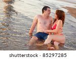 young adult happy couple couple ... | Shutterstock . vector #85297285