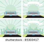 big luxury car driving down the ... | Shutterstock .eps vector #85303417