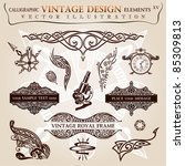 calligraphic elements vintage... | Shutterstock .eps vector #85309813