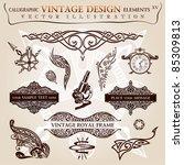 calligraphic elements vintage... | Shutterstock .eps vector #85309813