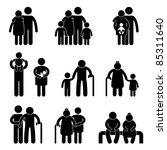 happy family father mother... | Shutterstock . vector #85311640