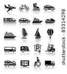 set of simple transport icons... | Shutterstock .eps vector #85314298