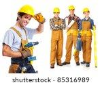 industrial contractors workers... | Shutterstock . vector #85316989