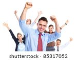 happy business people. isolated ... | Shutterstock . vector #85317052