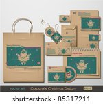 corporate christmas design.... | Shutterstock .eps vector #85317211