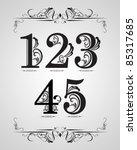 vector set   classical... | Shutterstock .eps vector #85317685
