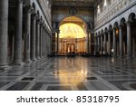 rome  italy. interior of papal... | Shutterstock . vector #85318795