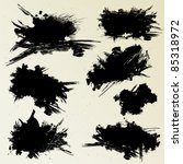 set of ink stains | Shutterstock .eps vector #85318972