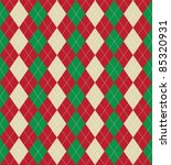 Christmas Themed Argyle Patter...