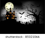 spooky halloween background | Shutterstock .eps vector #85321066